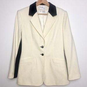 Vintage Moda Spiegel Ivory & Black Wool Blazer